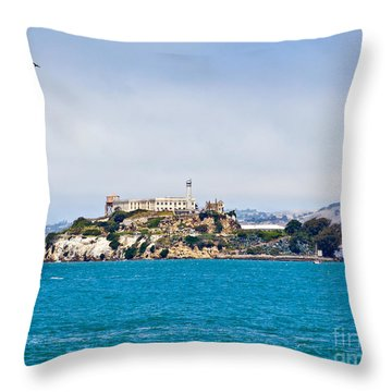 Alcatraz - San Francisco Throw Pillow