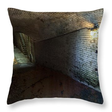 Alcatraz 1866 Tunnel Throw Pillow by Daniel Hagerman