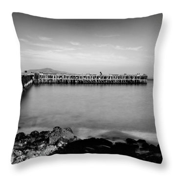 Alcatraz From Fort Point Throw Pillow by Tanya Harrison