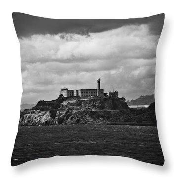 Alcatraz Throw Pillow by Ralf Kaiser