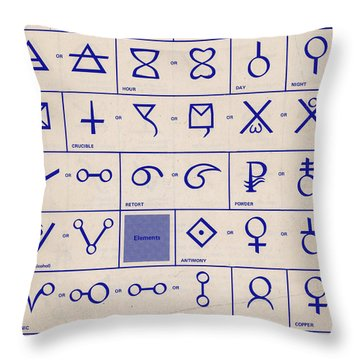 Alchemical Symbols Throw Pillow by Science Source