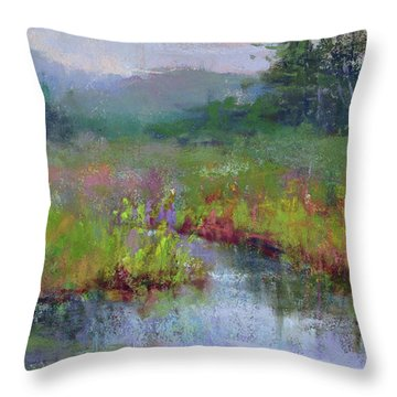 Alder Meadow Morning Throw Pillow