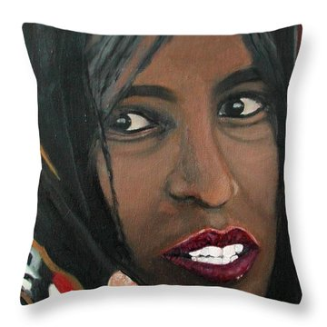 Alem E. W. Throw Pillow by Anna Ruzsan