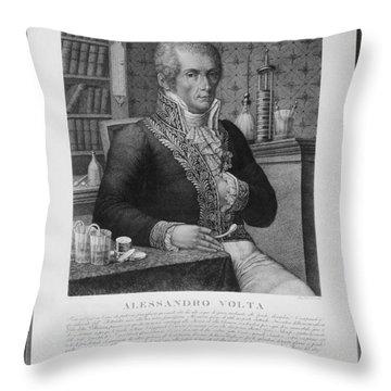 Alessandro Volta, Italian Physicist Throw Pillow by Omikron