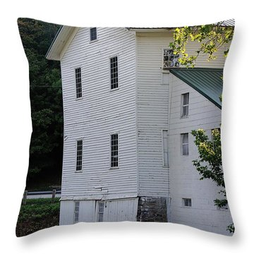 Alexanders Mill Throw Pillow by Jenny Hudson