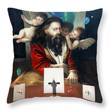 Alfa And Omega Throw Pillow by Anthony Falbo