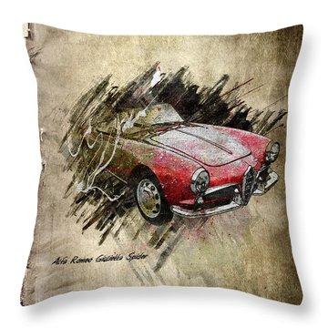 Alfa Romeo Throw Pillow by Svetlana Sewell