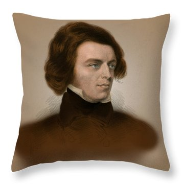 Alfred, Lord Tennyson, English Poet Throw Pillow by Science Source