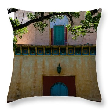 Alhambra Water Tower Doors Throw Pillow