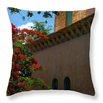 Alhambra Water Tower Windows And Door Throw Pillow