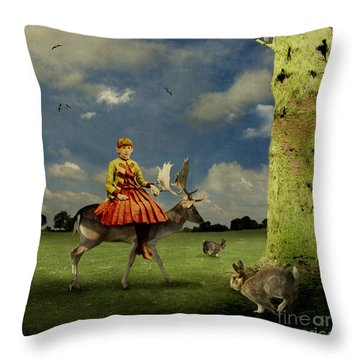 Alice Throw Pillow by Martine Roch