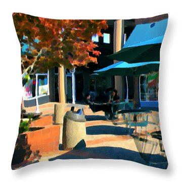 Alice's Wonderland Cafe Throw Pillow