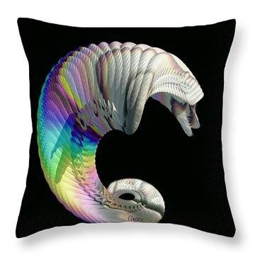 Alien Dog Throw Pillow by Julie Grace