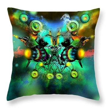 Alien Fighter Throw Pillow by Adam Vance
