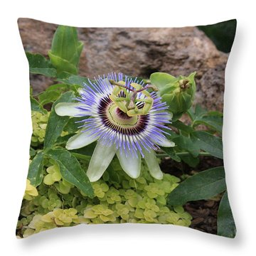 Throw Pillow featuring the photograph Alien Flower by Jerry Bunger