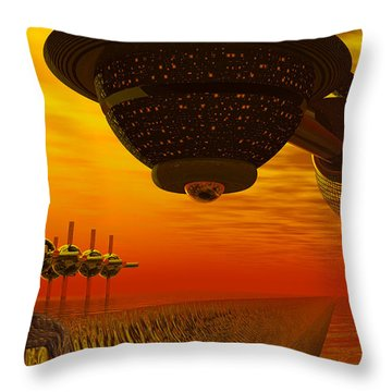 Alien Homecoming Throw Pillow by Nicholas Burningham