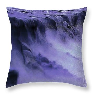 Throw Pillow featuring the photograph Alien Landscape The Aftermath by Blair Stuart