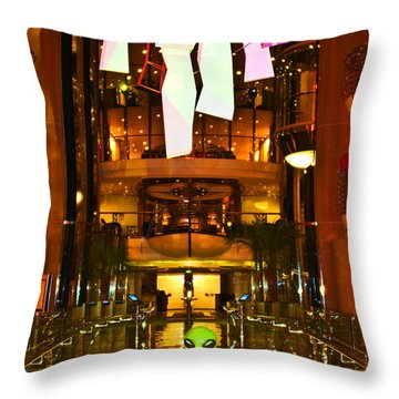 Alien On The Tp'd Bridge  Throw Pillow