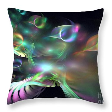 Alien Shrub Throw Pillow by Kim Sy Ok