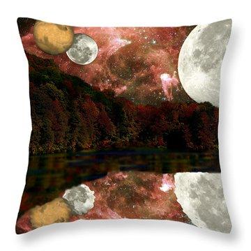 Throw Pillow featuring the photograph Alien World by Sarah McKoy
