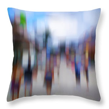 Alive In The City 12 - The Tourists Throw Pillow