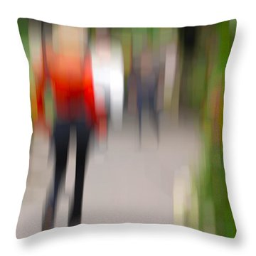 Alive In The City 2 -walking The Dog Throw Pillow