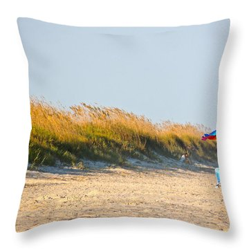 All Alone Throw Pillow by Eve Spring