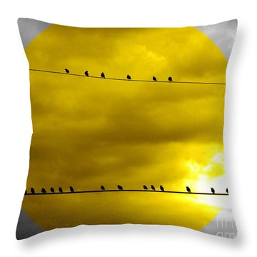 All Around The World Throw Pillow by France Laliberte