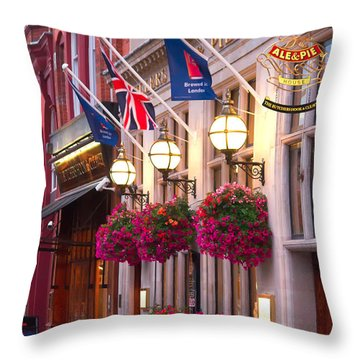 Throw Pillow featuring the photograph All Dressed Up For The Olympics.  by Shirley Mitchell