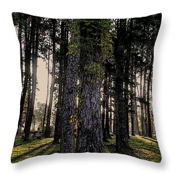 Throw Pillow featuring the photograph All For One by Steven Lebron Langston