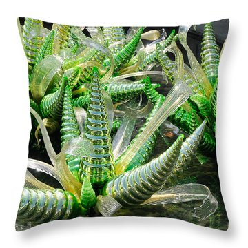 All Green Throw Pillow
