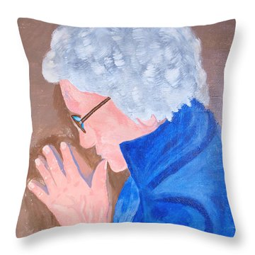Throw Pillow featuring the painting All In The Mind by Lisa Brandel