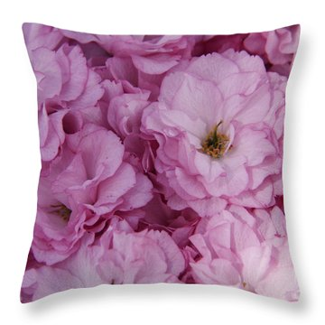 All In The Pink Throw Pillow by Yumi Johnson