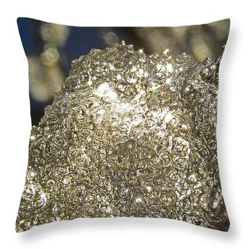 Throw Pillow featuring the photograph All That Glitters Is Definitely Cold by Steve Taylor