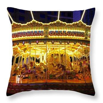 All The Fun Of The Fair Throw Pillow by Sean Foreman