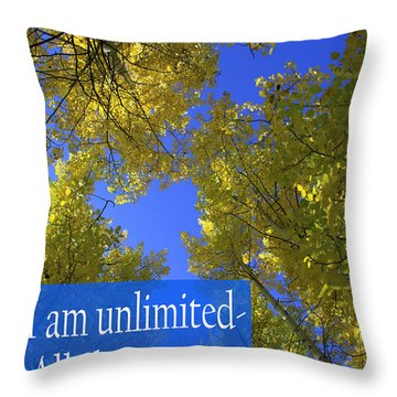 All Things Are Possible Throw Pillow by Dana Kern