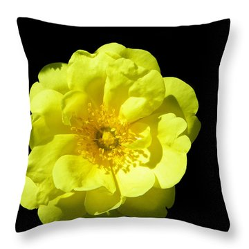 All Yellow Throw Pillow