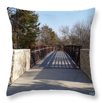 Allen Station Bridge Throw Pillow
