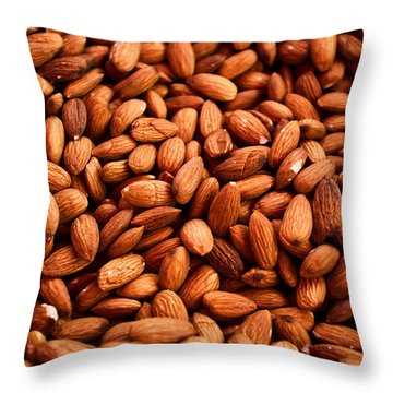 Almonds Throw Pillow by Tanya Harrison