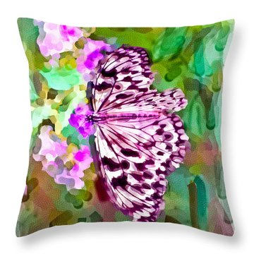 Almost Abstract Butterfly Throw Pillow