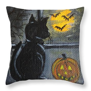 Almost Midnight Throw Pillow by Julie Brugh Riffey