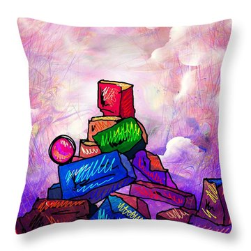 Almost There Throw Pillow by Rachel Christine Nowicki