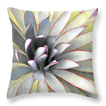 Throw Pillow featuring the photograph Aloe by Rebecca Margraf