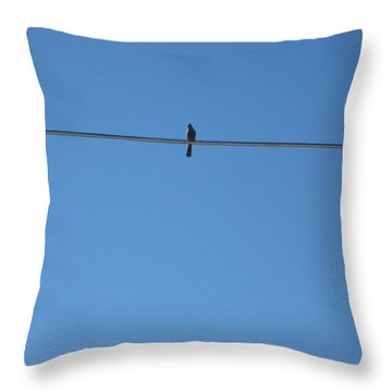 Throw Pillow featuring the photograph Alone At Last by Kume Bryant
