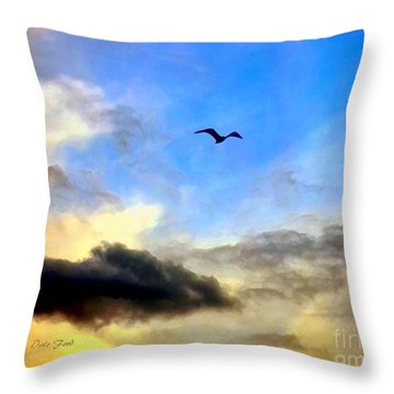 Alone In A Big Sky Throw Pillow