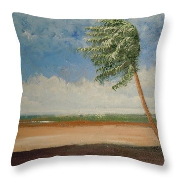 Throw Pillow featuring the painting Alone In Paradise  by Dan Whittemore
