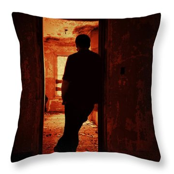 Alone In The Endzone Throw Pillow