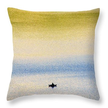 Alone On The Lake Throw Pillow