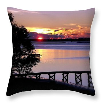 Alone With God Throw Pillow by Karen Wiles