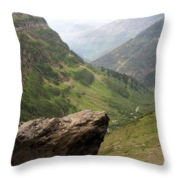 Along The High Line Throw Pillow by Marty Koch